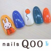 聖蹟桜ヶ丘のネイルサロン♪ nails Qoo 駐車場完備☆  #ハンド #キャラクター #カラフル #nailsQoo #ネイルブック