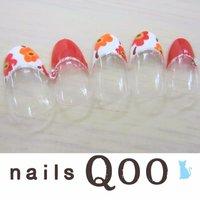 聖蹟桜ヶ丘のネイルサロン♪ nails Qoo 駐車場完備☆  #夏 #ハンド #フラワー #レッド #ジェル #nailsQoo #ネイルブック