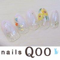 聖蹟桜ヶ丘のネイルサロン♪ nails Qoo 駐車場完備☆  #夏 #フラワー #ベージュ #nailsQoo #ネイルブック