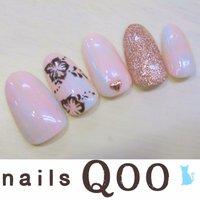 聖蹟桜ヶ丘のネイルサロン♪ nails Qoo 駐車場完備☆  #夏 #ハンド #フラワー #ピンク #ジェル #nailsQoo #ネイルブック