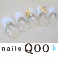 聖蹟桜ヶ丘のネイルサロン♪ nails Qoo 駐車場完備☆  #夏 #ハンド #フラワー #ホワイト #nailsQoo #ネイルブック