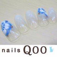聖蹟桜ヶ丘のネイルサロン♪ nails Qoo 駐車場完備☆  #夏 #ハンド #ピーコック #ホワイト #nailsQoo #ネイルブック