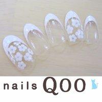 聖蹟桜ヶ丘のネイルサロン♪ nails Qoo 駐車場完備☆  #ブライダル #ハンド #フラワー #ホワイト #nailsQoo #ネイルブック