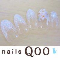 聖蹟桜ヶ丘のネイルサロン♪ nails Qoo 駐車場完備☆  #ハンド #フラワー #ホワイト #nailsQoo #ネイルブック