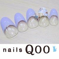 聖蹟桜ヶ丘のネイルサロン♪ nails Qoo 駐車場完備☆  #ハンド #フラワー #パープル #nailsQoo #ネイルブック
