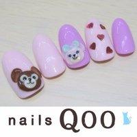 聖蹟桜ヶ丘のネイルサロン♪ nails Qoo 駐車場完備☆  #ハンド #キャラクター #ピンク #nailsQoo #ネイルブック