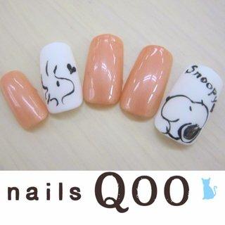 聖蹟桜ヶ丘のネイルサロン♪ nails Qoo 駐車場完備☆  #夏 #ハンド #キャラクター #ベージュ #ジェル #nailsQoo #ネイルブック