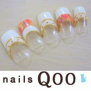 聖蹟桜ヶ丘のネイルサロン nails Qooです♪ 駐車場完備! #夏 #ハンド #フレンチ #ホワイト #ネイルチップ #nailsQoo #ネイルブック
