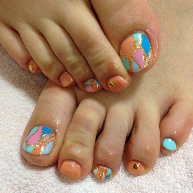 #Nailbook #フット #ジェル #それ、お疲れ爪かも?名古屋市北区 爪を育てるネイルサロン #ネイルブック