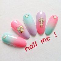 アートやり放題8900円☆ 八王子駅*nail me ! #nail me! 天田千鶴子 #ネイルブック