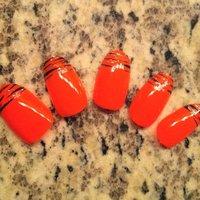 nein orange glitter animal print set ;) #nailartfun #ネイルブック