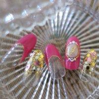 Princess nail! #パーティー #ピンク #ジェル #Mai #ネイルブック