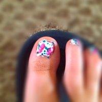 Cherry tootsies :) #Sarah T Tonge #ネイルブック