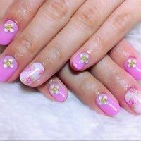 フラワーネイル♡ #春 #ハンド #ワンカラー #ピンク #ジェル #お客様 #nailist_tsubasa #ネイルブック
