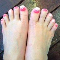 #Nailbook #フット #ピンク #Mandy Ong #ネイルブック