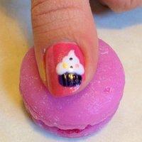 Cupcakes !! #ハンド #ピンク #セルフネイル #NailLudiMacarons #ネイルブック