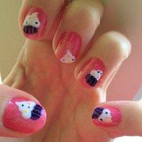 Cupcakes!! #ハンド #ピンク #セルフネイル #NailLudiMacarons #ネイルブック