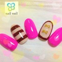 この春流行のネオン♪ #ピンク #ジェル #m_nail2 #ネイルブック