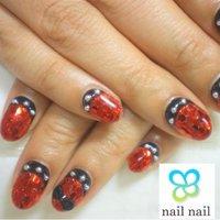 赤色ホログラムでキラキラ!! #ハンド #ホログラム #レッド #ジェル #お客様 #m_nail2 #ネイルブック