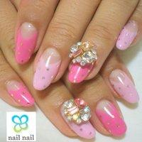 ピンク×ドットが大人気♡ #ハンド #フレンチ #ピンク #ジェル #お客様 #m_nail2 #ネイルブック