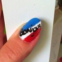 France #ハンド #ブルー #セルフネイル #NailLudiMacarons #ネイルブック