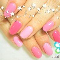 綺麗な色んなピンク色♡ #ハンド #ワンカラー #ピンク #ジェル #お客様 #m_nail2 #ネイルブック
