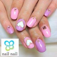 ピンクとパープルで女子力UP♡ #春 #ハンド #フレンチ #ピンク #ジェル #お客様 #m_nail2 #ネイルブック