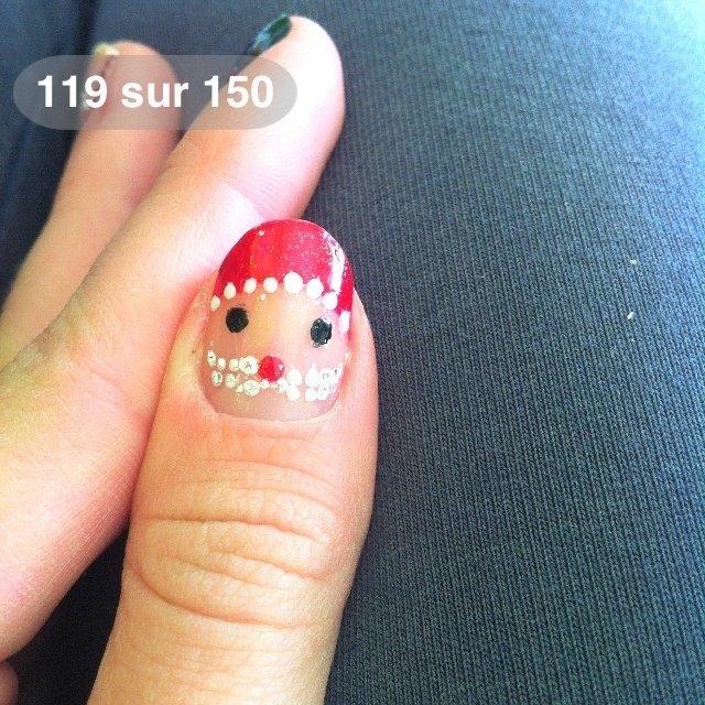 #Nailbook #クリスマス #ハンド #レッド #セルフネイル #NailLudiMacarons #ネイルブック