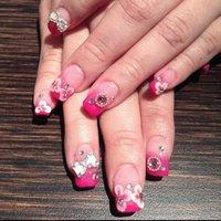 #Nailbook #お正月 #ハンド #フラワー #ピンク #Mandy Ong #ネイルブック