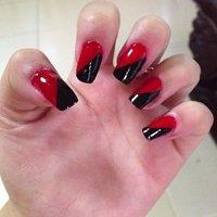 My nails :) #パーティー #ハンド #和 #レッド #セルフネイル #Bbynatchang1394 #ネイルブック