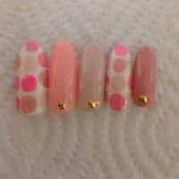 tati先生のデザインを真似っこしてみた♡ #春 #ピンク #Miko #ネイルブック