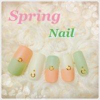 一足先に、春ネイル。 マットで爽やかに* #春 #ハンド #ピンク #ジェル #セルフネイル #Colorful_03 #ネイルブック