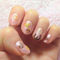 マニキュア❤ パールピンクで砂糖菓子とたらーりチョコレートをイメージ♩ #バレンタイン #ハンド #ピンク #マニキュア #セルフネイル #Hitomi Ohyama #ネイルブック