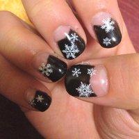 #Nailbook #冬 #ブラック #ジェル #セルフネイル #lololoking1 #ネイルブック