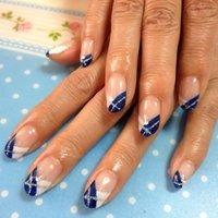 #Nailbook #ブルー #ジェル #Miyuki Yamamoto #ネイルブック