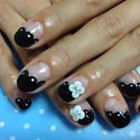 #Nailbook #ブラック #ジェル #Miyuki Yamamoto #ネイルブック