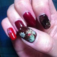 #Nailbook #クリスマス #ハンド #レッド #マニキュア #セルフネイル #poohhaku #ネイルブック