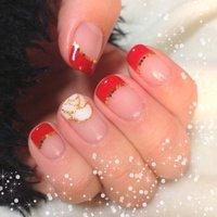 クリスマス→年末のめでたい感じに♡ #レッド #wakanamama #ネイルブック