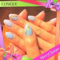 今回のセルフネイルはXmasバージョンで、色はアイスブルー #ジェル #セルフネイル #candy_mini #ネイルブック