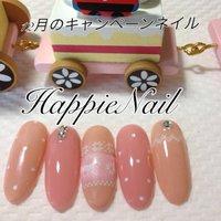HappieNailのキャンペーンネイル6300円 #ピンク #セルフネイル #Chou❤︎Chou YUKA #ネイルブック