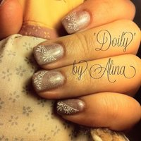 """Doily"" by Alina ❤ (www.nailspoint.com) #ハンド #レース #ジェル #HiToMi_KiNkY #ネイルブック"