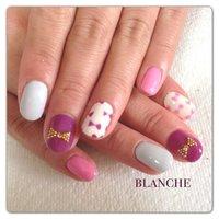 リボンネイル(*^^*) #デート #ハンド #リボン #ピンク #ジェル #お客様 #blanche_nail #ネイルブック