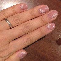 秋色ピンクにしてみました。 #ハンド #デコ #ベージュ #セルフネイル #Yumiko Tsukada #ネイルブック