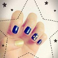 自分で塗ってみた!満足! ネイビー、ゴールド、星 #ハンド #星 #マニキュア #Miku Tamura #ネイルブック