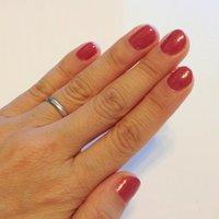 秋色赤で、シンプルにしました。短い爪は気持ちいい! #ハンド #ワンカラー #レッド #セルフネイル #Yumiko Tsukada #ネイルブック