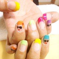 #Nailbook #夏 #ハンド #フレンチ #カラフル #ジェル #お客様 #Hiroko Yukawa #ネイルブック