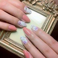 花柄Barbieネイル #デート #ハンド #フラワー #ピンク #ジェル #お客様 #Mai #ネイルブック