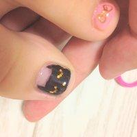 黒猫アップ!! #macaron10121 #ネイルブック