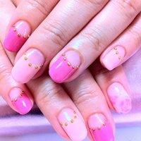 マーブルフラワーも入ってます。 #ハンド #フレンチ #ピンク #ジェル #お客様 #FUMMY's nail #ネイルブック