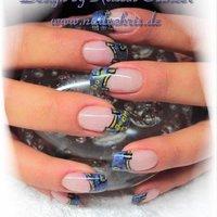 #Nailbook #パーティー #ブルー #Kristin Ostheer #ネイルブック